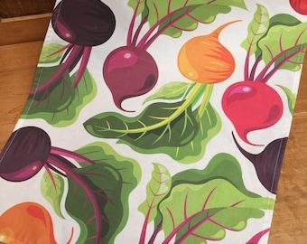 Beetroot tea towel