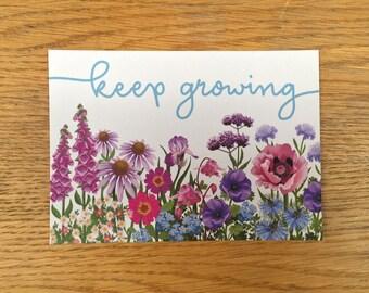 Keep Growing, postcard pack of 6.