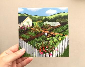 Summer allotment greeting card