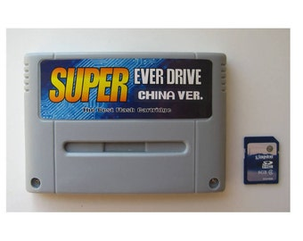 Super Everdrive Nintendo SNES Famicom Flash Cart + 8gb Sd Card PAL/NTSC Supayboy S Retron 3