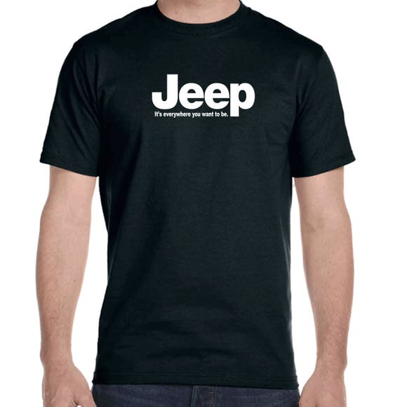 Jeep It's everywhere you want to be short sleeve t-shirts