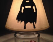 Mini mason jar night light - Batman influenced