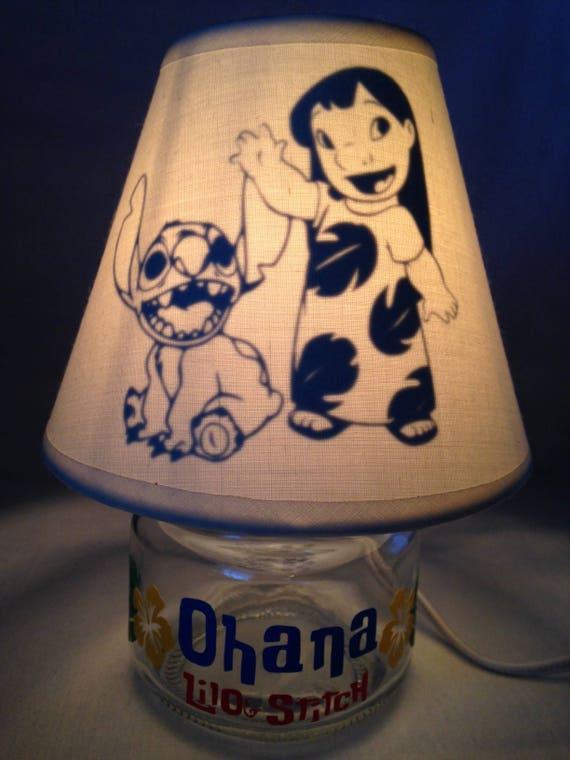 Mini mason jar night light Mickey Mouse influenced