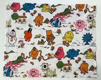 Mr Men Original and Rare Vintage Fabric FQ 70s