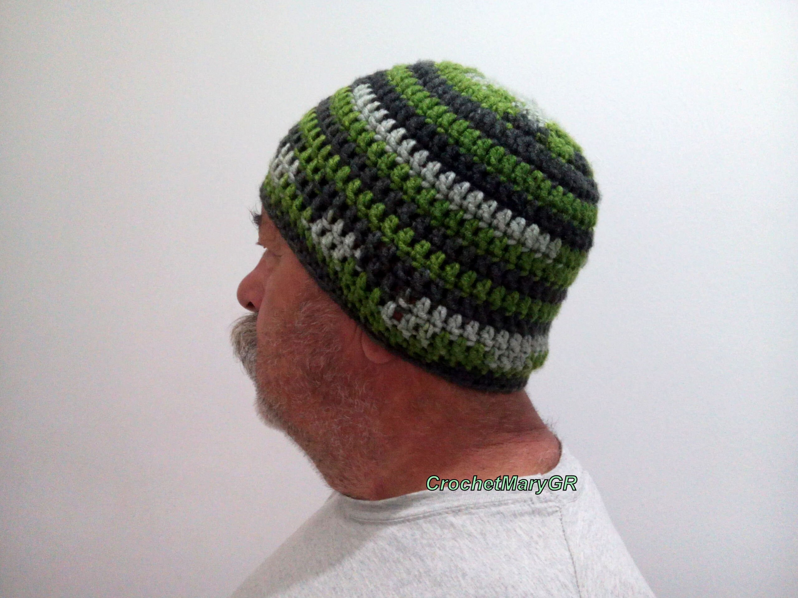 e94d44b55 Crochet Hat Man, Father's day, mens hat, adult crochet hat, Green crochet  hat, gift for him, gift for friends, winter hats