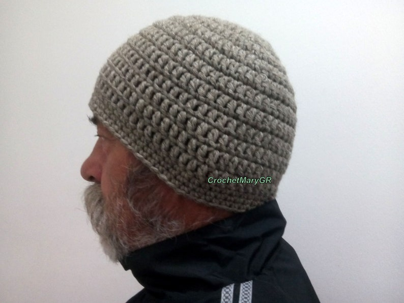 Crochet Hat Man Father S Day Gift Beanie For Man Beige Etsy