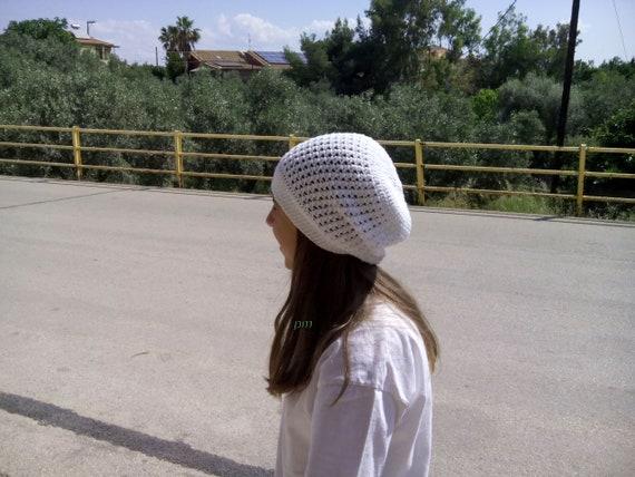 Häkeln Sie Sommerhut Mütze Für Mädchen Kinder Mütze Weiße Etsy