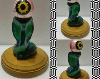 Snake-eye sculpture