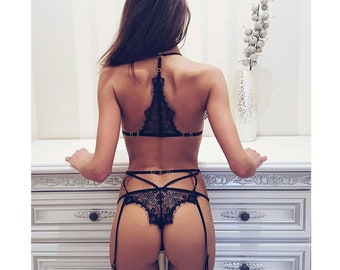 See through lingerie bottomless