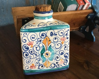 Nadein Handprinted Italian Olive Oil Jar