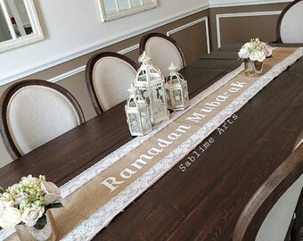 Off White Velvet Runner Islamic runner Ramadan Gift Ramadan Decoration Ramadan Table setting Ramadan Runner Ramadan Table Runner Ramadan velvet Table Runner Ramadan Iftar Table Decoration