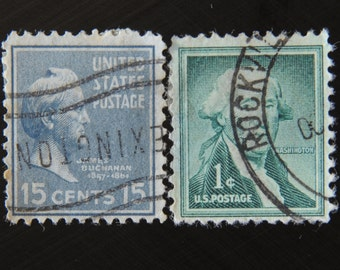 Vintage Stamps 1 Cent And 15 Cents 2