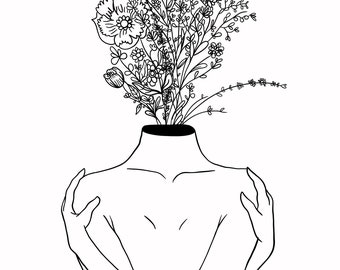 Blooming Flowers & Self Love - Print on Canvas