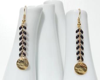 Spike earrings / black