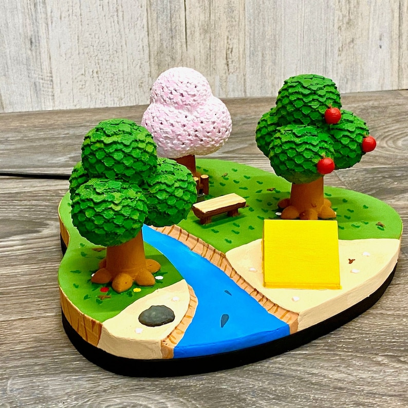 Nintendo Switch Animal Crossing Island Dock 3D Print New Spring