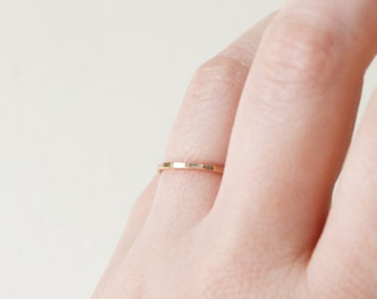 Gold Hammered Band, Gold Band, 1.3mm Gold Ring, Delicate Gold Band, Minimalist Gold Band, Minimalist Ring, Thin Gold Band, Gold Band Ring