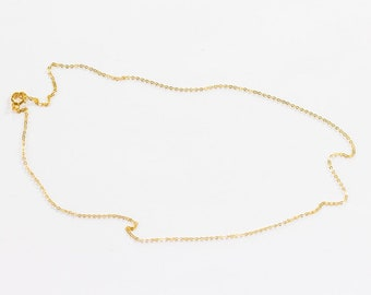 Delicate Gold Chain Necklace, Gold Chain Necklace, Gold Necklace, Short Necklace, Delicate Gold Necklace, Minimalist Necklace