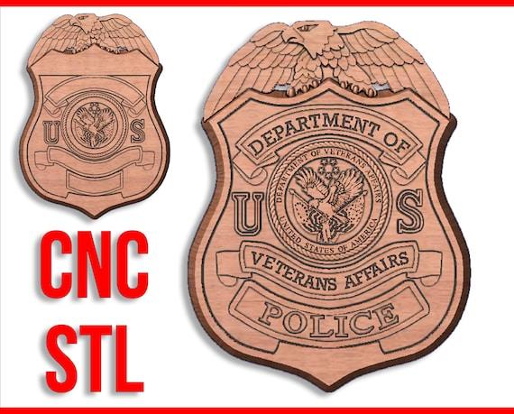 Dept of Veterans Affairs Police Officer Mini Badge Key Ring
