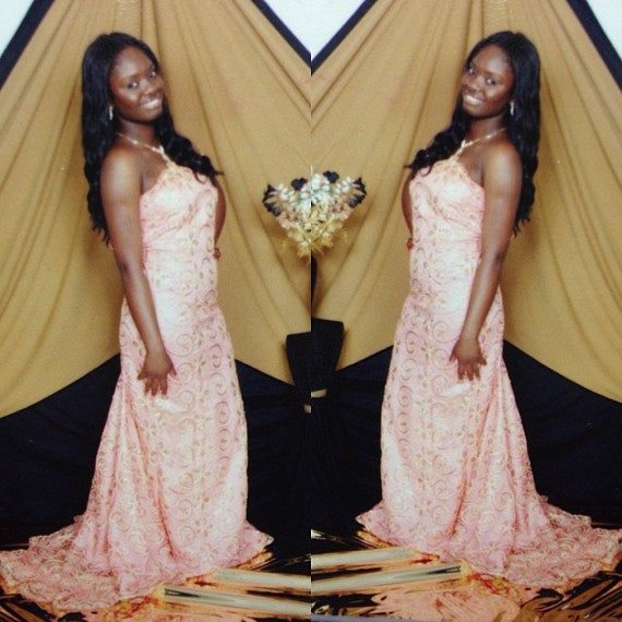 African Lace Prom Dress
