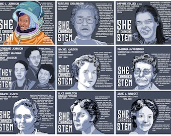 SHE CHANGED STEM Poster Series(Downloadable Digital Files) Funding Campaign