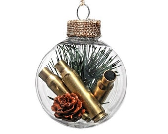 hunting ornament christmas ornament gun gifts bullet casings hunting gift bullet ornament unique gift gifts for boyfriend