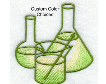Dish or Hand Towel - Organic - Embroidery - Science - Biology - Chemistry