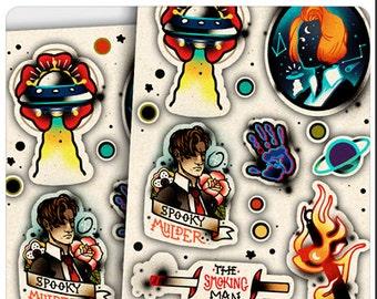 X-Files Flash Stickers