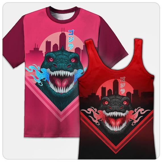 Godzilla Silhouette Fitted Jersey Tee Unisex