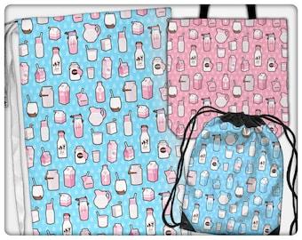 Milk Pattern Bags (tote, cinch, sling, laundry)