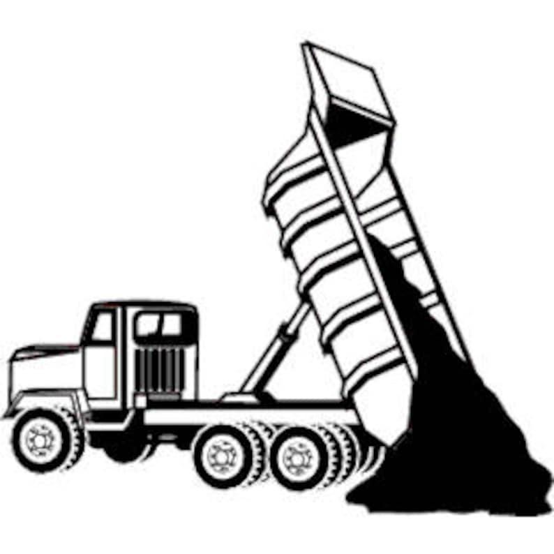 Lifted Dump Truck SVG