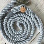 THE MONOCHROME Rope Dog Leash, extra soft cotton dog lead, slip lead, eurolead, multifunctional leash, made by hand