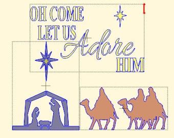 Christmas Nativity Scene Stencil