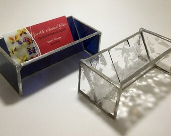Stained Glass Business Card Holder By Sparkle Stained Glass