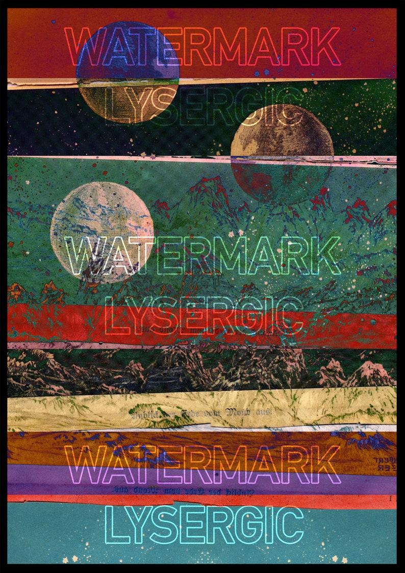 Ink Jet Gicl\u00e9e print LUNAR PATH Fine Art Print Original Astronomy Collage