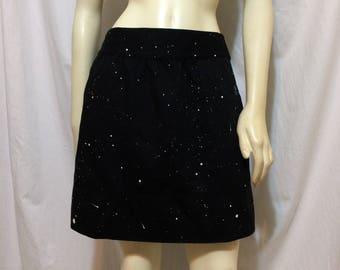 Women's Galaxy Skirt, Size 2 Petite.  Galaxy, Space, Skirt, Skirts, Mini, Halloween, Costume, Halloween Costume
