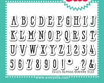 Elle's Alphas Clear Stamps - Avery Elle