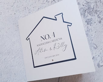 Funny Rude house warming card moving home haunted friends mate new flat boy