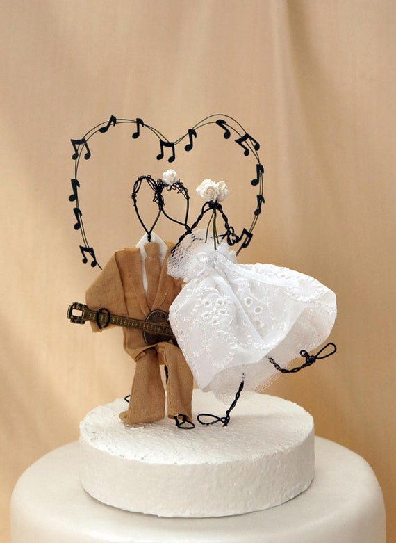 Wedding Cake Topper Music Wedding Cake Topper Guitar Cake Etsy