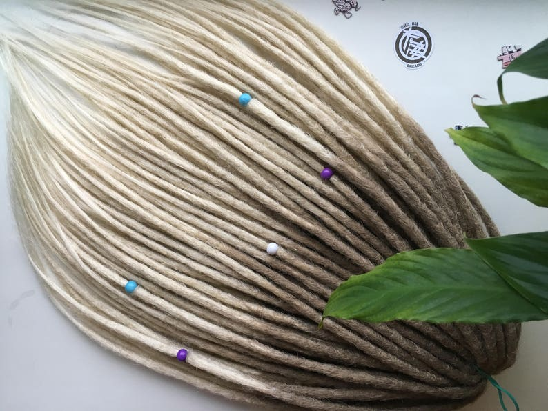 2b17073fc7fd2 16s/302 OMBRE SYNTHETIC DREADS full set double ended dreadlocks. Soft  dreadlocks. Natural texture.