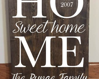 9490c89a6b7c8 Home Sweet Home//Last Name Family Sign//Established Sign//Home | Etsy