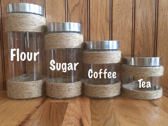 Farmhouse Kitchen Canisters Kitchen Canisters Rustic Etsy