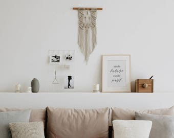 Natural Macrame Wall Hanging - Macrame Decor - Wall Art - Wall Tapestry - Modern Macrame - Nursery Decor - Baby Shower Gift - Gift for Home