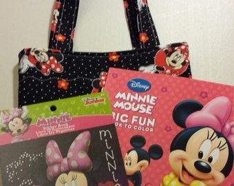 Quilted Disney Crayon Tote Gift Set - Minnie