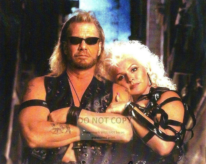 """Duane """"Dog"""" Chapman & Wife Beth with *Reprint* Autographs - 8X10 or 11X14 Photo (FB-516)"""