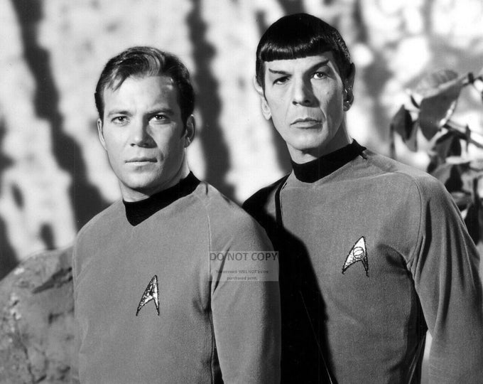 "William Shatner and Leonard Nimoy in ""Star Trek"" - 5X7, 8X10 or 11X14 Publicity Photo (WW020)"
