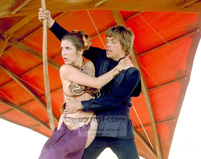 "Mark Hamill & Carrie Fisher in the Star Wars Film ""Return of the Jedi"" - 5X7, 8X10 or 11X14 Photo (WW006)"