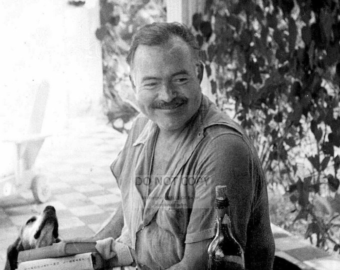 Ernest Hemingway Novelist, Short Story Writer and Journalist - 5X7, 8X10 or 11X14 Photo (SS021)
