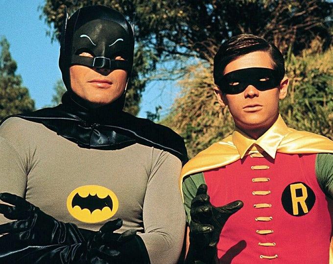 "Adam West and Burt Ward in the ABC TV Series ""Batman"" - 5X7, 8X10 or 11X14 Publicity Photo (ZZ-196)"