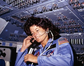 Astronaut Sally Ride on the Space Shuttle Challenger in 1983 America's First Woman in Space - 5X7, 8X10 or 11X14 NASA Photo (AA-983)