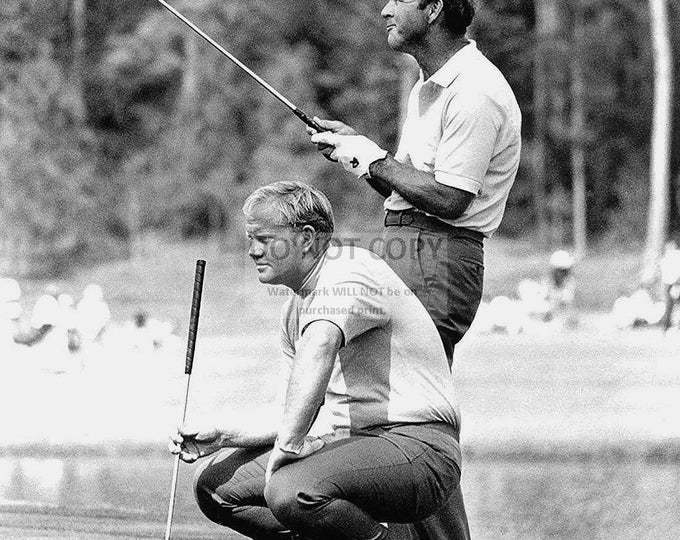 Jack Nicklaus and Arnold Palmer Golf Legends - 5X7, 8X10 or 11X14 Photo (CP-001)
